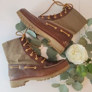 Sperry Top Sider leather lace-up boots size 8.5